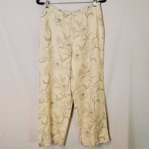 Tommy Bahama Silk Wide Leg Ankle Cropped Pants